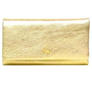 Radley London Gold Leather Trifold Wallet NWT